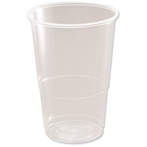 Image of CE Marked Polypropylene Half Pint (284ml) Tumbler - Pack of 50
