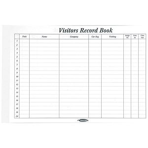 Image of Concord Refill for CD14P Visitors Book / 220x296mm / 50 Sheets / 2000 Entries