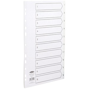 Image of Concord Index Dividers / 1-10 / A4 / White