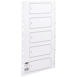 Image of Concord Index Dividers / 1-5 / A4 / White