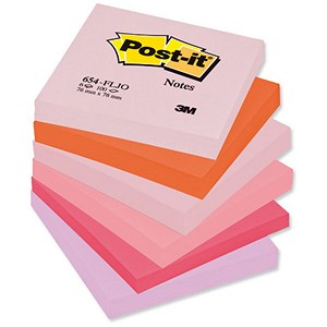 Image of Post-it Colour Notes / 76x76mm / Joyful Colours Palette / Pack of 12 x 100 Notes