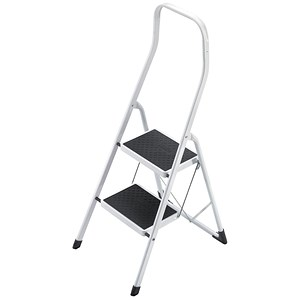Image of 5 Star Folding Safety Steps / Safety Rail / 2 Treads / Capacity 150kg