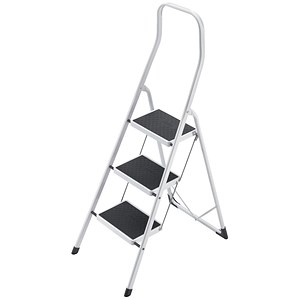 Image of 5 Star Folding Safety Steps / Safety Rail / 3 Treads / Capacity 150kg