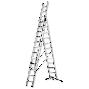 Image of Combi Ladder / 3 Section / Capacity 150kg / Rungs 3x12 / H9.25m