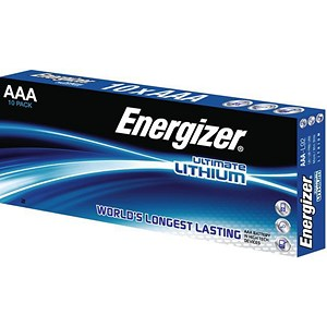 Image of Energizer Ultimate Lithium Battery / LR03 / 1.5V / AAA / Pack of 10