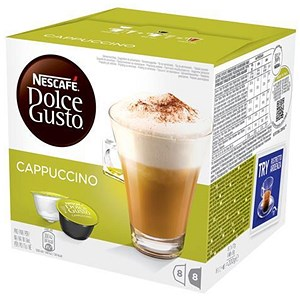 Image of Nescafe Cappuccino for Nescafe Dolce Gusto Machine - 24 Drinks (48 Capsules)