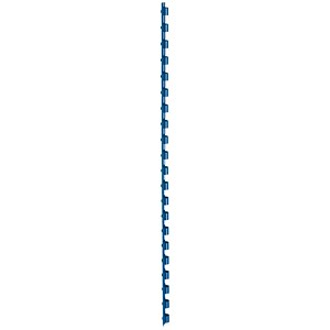 Image of 5 Star Binding Combs / 21 Ring / 6mm / Blue / Pack of 100