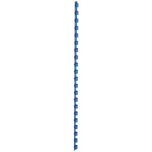 Image of 5 Star Binding Combs / 21 Ring / 8mm / Blue / Pack of 100