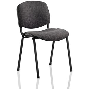 Image of Trexus Stacking Chair / Fabric / Charcoal