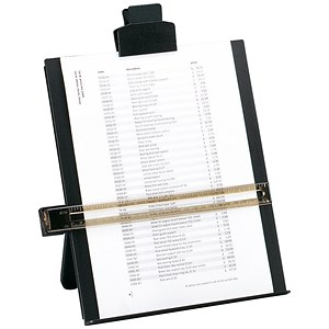 Image of 5 Star Desktop Copyholder with Line Guide Ruler / A4 / Black