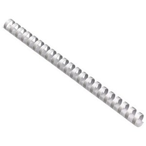 Image of GBC Plastic Binding Combs / 21 Ring / 12mm / White / Pack of 100