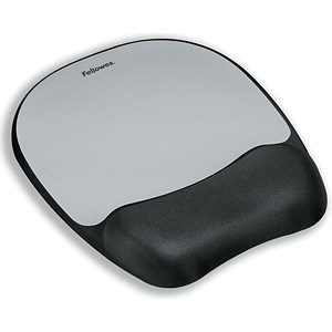 Image of Fellowes Mousepad / Non-skid Memory Foam / Silver