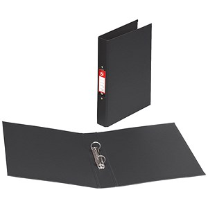 Image of 5 Star Ring Binder / PVC / 2 O-Ring / 40mm Spine / 25mm Capacity / A4 / Black / Pack of 10