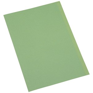 Image of 5 Star Square Cut Folder Recycled Pre-punched 180gsm Foolscap Green [Pack 100]