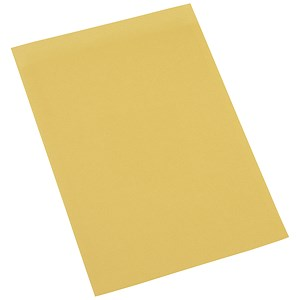Image of 5 Star Square Cut Folder Recycled Pre-punched 180gsm Foolscap Yellow [Pack 100]