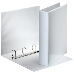 Image of Esselte Presentation Ring Binder / 4 D-Ring / 55mm Spine / 40mm Capacity / A4 White / Pack of 10
