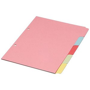 Image of Concord Subject Dividers / 5-Part / A5 / Pack of 20