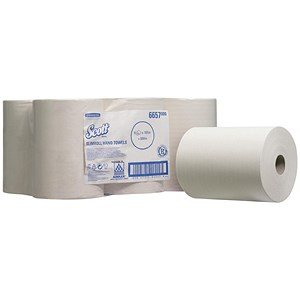 Image of Scott Slimroll Hand Towel / Single Ply / 6 Rolls