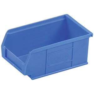Image of Heavy Duty Polypropylene Container Bin / W165xD100xH75mm / Blue / Pack of 20