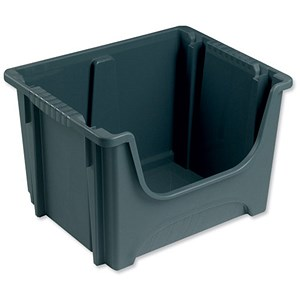 Image of Space Storage Bin / Stackable / Capacity 50 Litre / W495xD390xH320mm / Grey