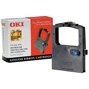 Image of Oki 09002309 Black Ribbon Cassette