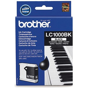 Image of Brother Inkjet Cartridge Page Life 500pp Black Ref LC1000BK