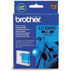 Image of Brother LC1000C Cyan Inkjet Cartridge