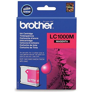Image of Brother LC1000M Magenta Inkjet Cartridge