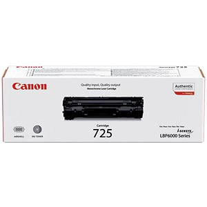 Image of Canon CRG-725 Laser Toner Cartridge Page Life 1600pp Black Ref 3484B002