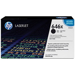Image of HP 646X High Yield Black Laser Toner Cartridge