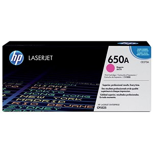 Image of HP 650A Magenta Laser Toner Cartridge
