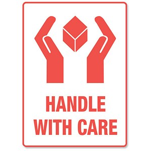 "Image of ""Handle With Care"" Parcel Labels - 500 Labels"