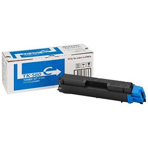 Image of Kyocera TK-580C Cyan Laser Toner Cartridge