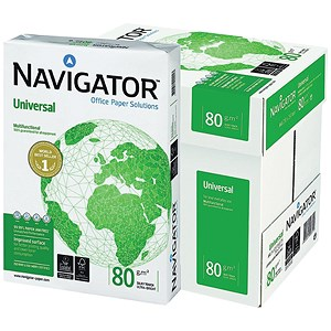 Image of Navigator Universal A4 Paper / White / 80gsm / Box (5 x 500 Sheets)