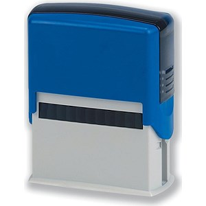 Image of 5 Star Custom Self-Inking Imprinter Stamp - 40x15mm (4 Lines of Text)
