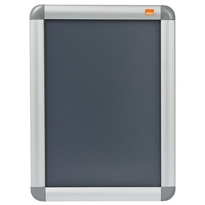 Image of Nobo Clip-down Frame Moulded Aluminium Front-opening - A4