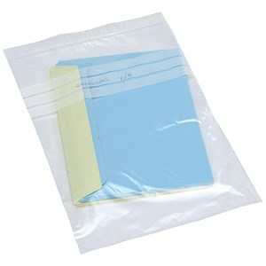 Image of Grip Seal Polythene Bags / Write On / 40 Micron / 229x324mm / Pack of 1000