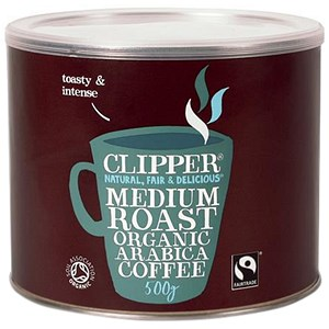 Image of Clipper Fairtrade Organic Freeze Dried Instant Coffee Granules - 500g Tin