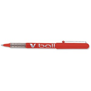Image of Pilot VB7 Rollerball Pen / 0.7mm Tip / 0.5mm Line / Red / Pack of 12