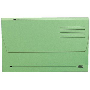 Image of Elba Document Wallet Half Flap 285gsm Capacity 30mm A4 Green Ref 100090245 [Pack 50]