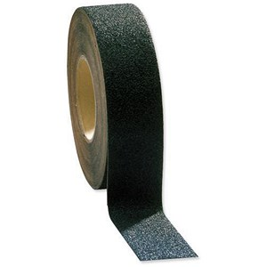 Image of COBA Grip-Foot Tape Anti-slip Grit Surface Hard-wearing W25mmxL18.3m Black Mat Ref GF010001
