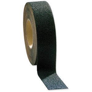 Image of COBA Grip-Foot Tape Anti-slip Grit Surface Hard-wearing W102mmxL18.3m Black Mat Ref GF010003