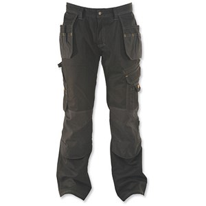 Image of Dewalt Pro-Tradesman Trousers / Waist: 32in, Leg: 31in / Black