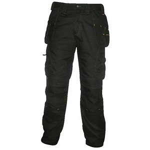 Image of Dewalt Pro-Tradesman Trousers / Waist: 40in, Leg: 33in / Black