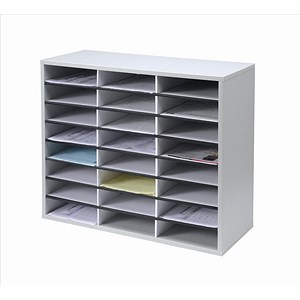 Image of Fellowes Literature Sorter with Melamine-laminated Shell - 24 Compartments