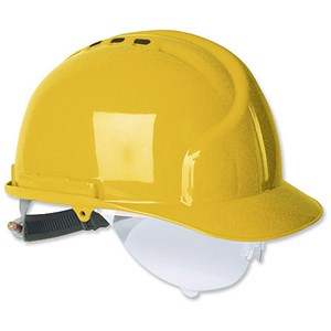 Image of Martcare MK7 Vented Helmet Terylene Harness Ventilated Yellow Ref AHN120-100-2G1