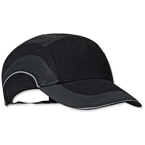 Image of JSP Ventilated Hard Cap / Adjustable with Standard Peak / A1 Plus / 70mm / Black