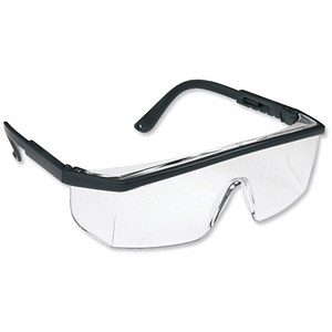 Image of Polycarbonate Wraparound Spectacles - Clear Lens