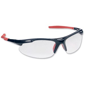 Image of Martcare Sports Spectacles / Clear Lens / Black & Red Frame