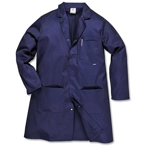 Image of Portwest Hygiene & Warehouse Coat / Large / Navy